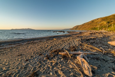 Pukerua Bay Beach at Sunset